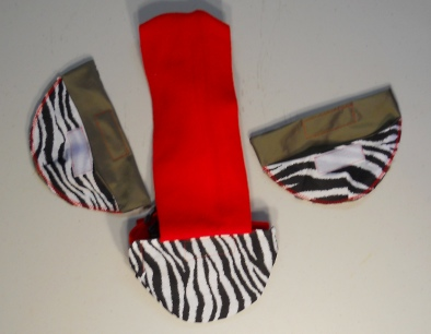 Zebra Print Duck Diaper Holders