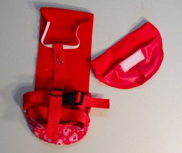 Red Heart Valentine's Day Duck Diaper Holder Harness