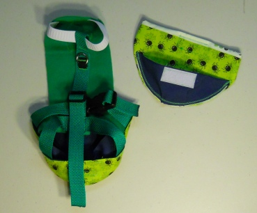 Duck Diaper Holder Spider Print w/ Green