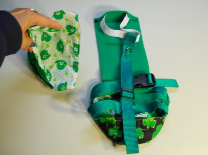 Duck Diaper Holder St. Pat's back