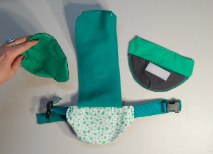 Lucky Clover St Pat's Duck Diaper Holder Harness