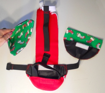 Christmas Goose Diaper Holder Santa Pants